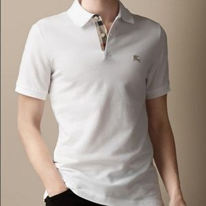 Burberry Brit Men`s Polo Cotton White XL